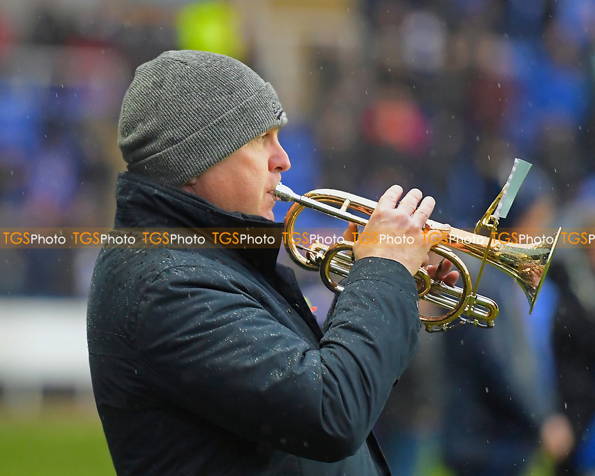 A Bugler performs The Last Post during Reading vs Luton Town, Sky Bet EFL Championship Football at the Madejski Stadium on 9th November 2019