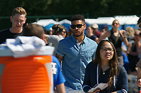 Kansas City, MO - Saturday May 13, 2017: Sydney Leroux's husband Dom Dwyer during a regular season National Women's Soccer League (NWSL) match between FC Kansas City and the Portland Thorns FC at Children's Mercy Victory Field.