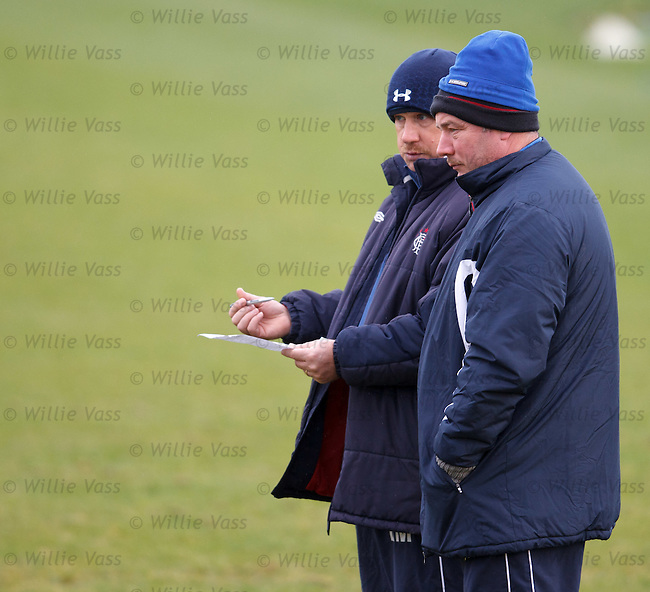 Ally McCoist and Kenny McDowall with four beanie hats between them