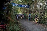 Lars van der Haar (NED/Telenet Fidea Lions) leading straight after the race start up the infamous Koppenberg<br /> <br /> Elite Men's race<br /> Koppenbergcross / Belgium 2017