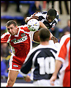 14th Aug 99                 Copyright Pic : James Stewart .Ref :                           .File Name : stewart04-raith rovers v st mirren                       .ROVERS MARVIN ANDREWS AND MARK YARDLEY CHALLENGE FOR THE BALL......Payments to :-.James Stewart Photo Agency, Stewart House, Stewart Road, Falkirk. FK2 7AS      Vat Reg No. 607 6932 25.Office : 01324 630007        Mobile : 0421 416997.E-mail : JSpics@aol.com.If you require further information then contact Jim Stewart on any of the numbers above.........