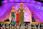 Models show off dresses from an exhibition of Rose of Tralee Gowns from the last 50 years at the Rose of Tralee fashion show at the dome on Sunday night.