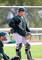 Anthony Recker - Oakland Athletics - 2009 spring training.Photo by:  Bill Mitchell/Four Seam Images