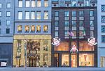 USA, NY, New York, 5th  Avenue Christmas Decorations