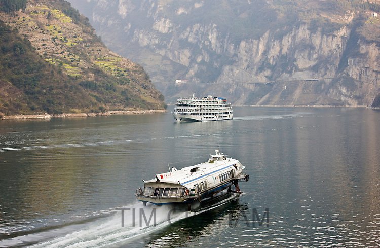 Hydrofoil passenger transport on Yangze River, China