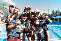 Stanford, California - May 12, 2019: Stanford Women's Water Polo outscored USC 9-8 to win the NCAA National Championship at Avery Aquatic Center in Stanford, California.