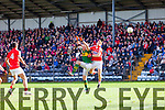 Kieran Donaghy Kerry in action against  Stephen O'DonoghueCork in the National Football League at Pairc Ui Rinn on Sunday.