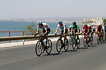 The peloton led by Team Sky leave the coast after the start of Stage 4 of the La Vuelta 2018, running 162km from Velez-Malaga to Alfacar, Sierra de la Alfaguara, Andalucia, Spain. 28th August 2018.<br /> Picture: Colin Flockton   Cyclefile<br /> <br /> <br /> All photos usage must carry mandatory copyright credit (&copy; Cyclefile   Colin Flockton)