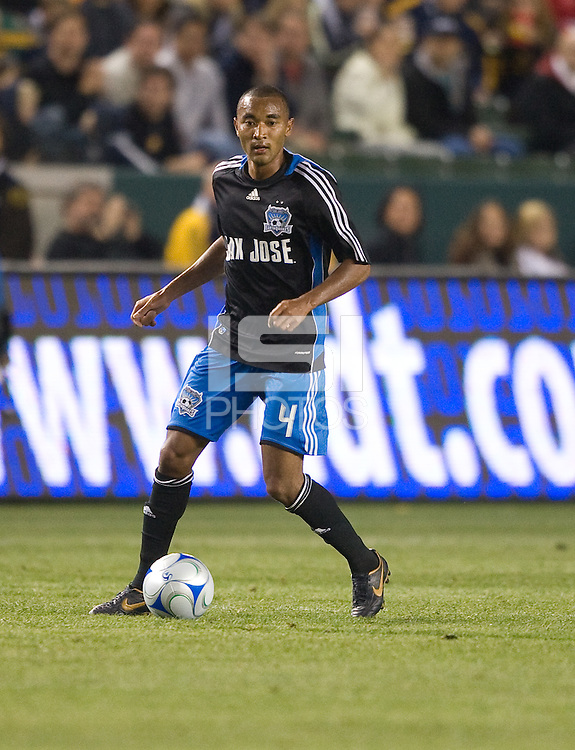 James Riley,.San Jose Earthquakes vs Los Angeles Galaxy, April 4, 2008, in Carson California. The Galaxy won 2-0.