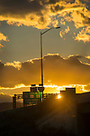 Interstate 180 silhouette and sunset.