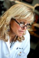 8/5/10 11:04:56 AM -- Boston , Massachusetts..Boston University School of Medicine researcher Dr. Ann McKee at Brain Bank...Photo by Vernon Doucette  for Boston University Photography