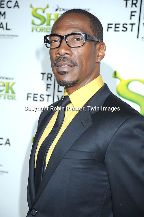 "Eddie Murphy arriving at The ""Shrek Forever After"" world premiere at The opening night of The Tribeca Film Festival on April 21, 2010 at The Ziegfeld Theatre in New York City. The movie stars Cameron Diaz, Mike Meyers, Eddie Murphy and Antonio Banderas."