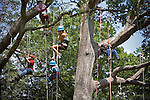 Times Photographer Bob Gathany takes photos of climbers while hanging out in the tree.  Recreational tree climbing class in Atlanta, GA taught by Tree Climbers International.  Photo by Ken Hawkins.