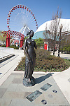"""""""Juliet of Verona"""" statue, a gift from the people of Verona, Italy, at Navy Pier, Chicago, IL, USA"""