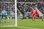 Georgina Wijnaldum of Newcastle United scores after taking a shot at Simon Mignolet of Liverpool - English Premier League - Newcastle Utd vs Liverpool - St James' Park - Newcastle - England - 6th of December 2015 - Picture Jamie Tyerman/Sportimage