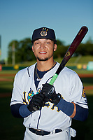 New Orleans Baby Cakes Isan Diaz (1) poses for a photo before a Pacific Coast League game against the Oklahoma City Dodgers on May 6, 2019 at Shrine on Airline in New Orleans, Louisiana.  New Orleans defeated Oklahoma City 4-0.  (Mike Janes/Four Seam Images)
