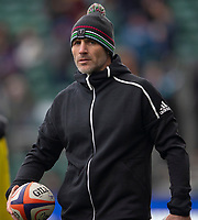 Harlequins' Head Coach Paul Gustard<br /> <br /> Photographer Bob Bradford/CameraSport<br /> <br /> Premiership Rugby Cup Round 1 - Bath Rugby v Harlequins - Saturday 27th October 2018 - The Recreation Ground - Bath<br /> <br /> World Copyright © 2018 CameraSport. All rights reserved. 43 Linden Ave. Countesthorpe. Leicester. England. LE8 5PG - Tel: +44 (0) 116 277 4147 - admin@camerasport.com - www.camerasport.com