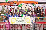 Comhaltas Ceolteoiri? C. S.  sponsored by The Cahersiveen Vintners Association taking part in the St Patrick's Day Parade in Cahersiveen.
