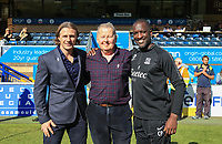 Wycombe Wanderers Manager Gareth Ainsworth, Southend United manager Chris Powell & Bill Turnbull pose for a Prostrate Cancer awareness photo during the Sky Bet League 1 match between Wycombe Wanderers and Southend United at Adams Park, High Wycombe, England on 29 September 2018. Photo by Andy Rowland / PRiME Media Images.