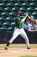 Ryder Jones (15) of the Augusta GreenJackets at bat against the Hickory Crawdads at L.P. Frans Stadium on May 11, 2014 in Hickory, North Carolina.  The GreenJackets defeated the Crawdads 9-4.  (Brian Westerholt/Four Seam Images)