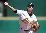 Reno Aces' Nelson Figueroa pitches against the Sacramento River Cats in Reno, Nev., on Sunday, April 14, 2013. The River Cats won 22-6..Photo by Cathleen Allison