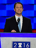 State Senator Jason Carter (Democrat of Georgia), grandson of former United States President Jimmy Carter, makes remarks during the second session of the 2016 Democratic National Convention at the Wells Fargo Center in Philadelphia, Pennsylvania on Tuesday, July 26, 2016.<br /> Credit: Ron Sachs / CNP<br /> (RESTRICTION: NO New York or New Jersey Newspapers or newspapers within a 75 mile radius of New York City)