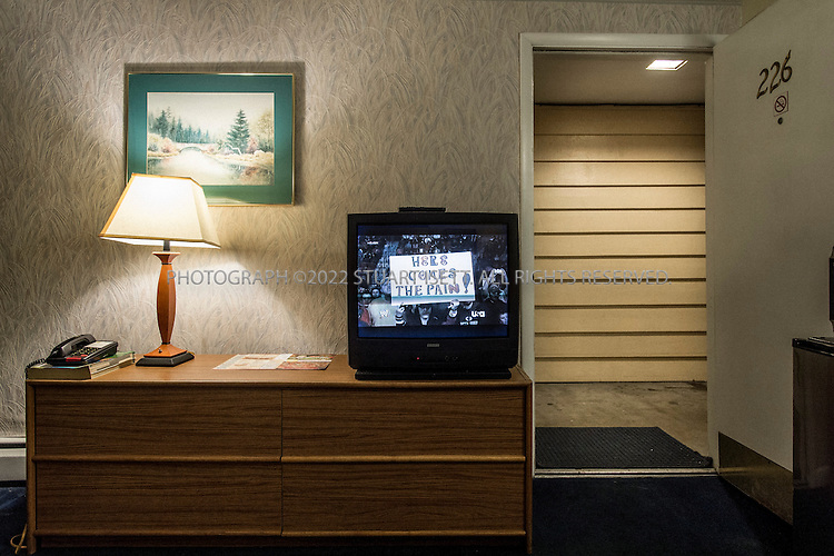 2/24/2014&mdash;Seattle, WA<br /> <br /> <br /> The Marco Polo Motel on Aurora Avenue in Seattle, WASH. Kurt Cobain, lead singer of Nirvana, frequently stayed in room 226 at the motel, where he used heroin. It was one of the last places he stayed before his death in April, 1994. Aurora Avenue is well known in Seattle for seedy motels, drugs and prostitution as it stretches north out of the city.<br /> <br /> <br /> Photograph by Stuart Isett<br /> &copy;2014 Stuart Isett. All rights reserved.