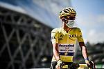 New race leader Yellow Jersey Julian Alaphilippe (FRA) Deceuninck-Quick Step at sign on before the start of Stage 3 of Tour de France 2020, running 198km from Nice to Sisteron, France. 31st August 2020.<br /> Picture: ASO/Pauline Ballet | Cyclefile<br /> All photos usage must carry mandatory copyright credit (© Cyclefile | ASO/Pauline Ballet)