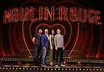 "Tam Mutu, Danny Burstein, Karen Olivo and Aaron Tveit from ""Moulin Rouge!"" The Broadway Musical at the Al Hirschfeld Theatre on July 9, 2019 in New York City."