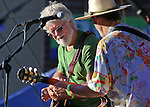 Paul Barr&egrave;re, left, and Fred Tackett, formerly of Little Feat, perform at the Concert Under the Stars event benefiting the Greenhouse Project in Carson City, Nev., on Wednesday, July 9, 2014.<br /> Photo by Cathleen Allison