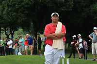 Kiradech Aphibarnrat (Asia) watching the play on the 18th during the Friday Foursomes of the Eurasia Cup at Glenmarie Golf and Country Club on the 12th January 2018.<br /> Picture:  Thos Caffrey / www.golffile.ie