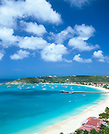 Anguilla, BWI:  View of Road Bay and Sandy Ground Harbor area on Anguilla's northwest coast, Caribbean Sea