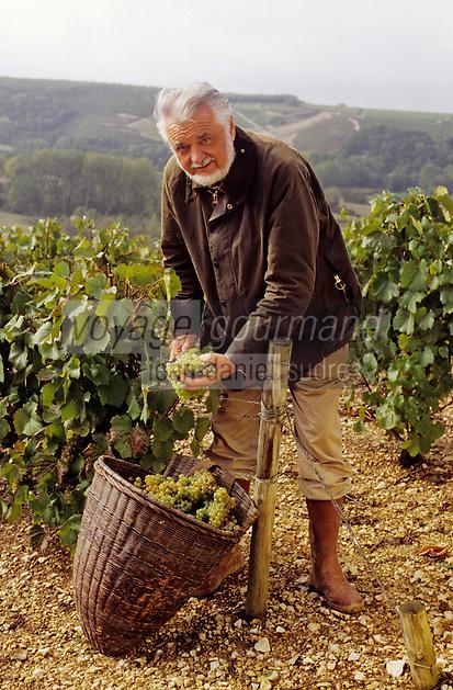 Europe/France/89/Yonne/AOC Chablis: Les vendanges de Jean Durup à Maligny [Non destiné à un usage publicitaire - Not intended for an advertising use]