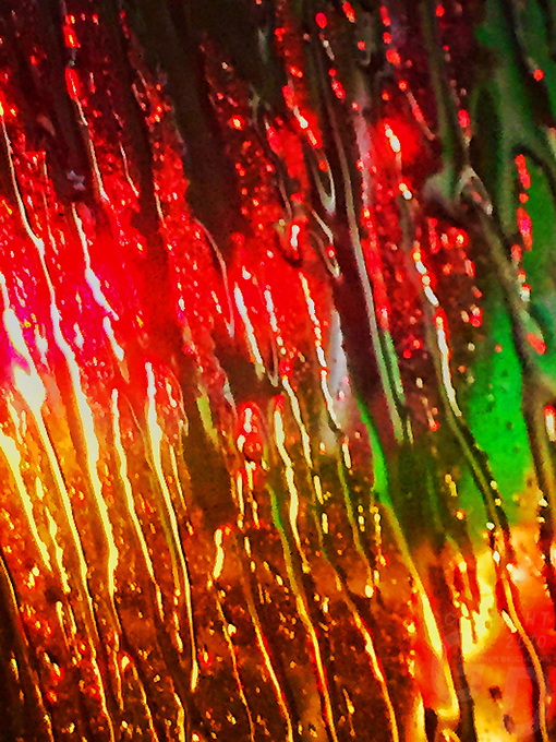 Liquid Window, Looking out from the car window during rainy weather
