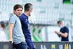 v.l. Trainer Oliver Glasner (Wolfsburg), Athletiktrainer Michael Berktold<br />Wolfsburg, 27.06.2020: nph00001: , Fussball Bundesliga, VfL Wolfsburg - FC Bayern Muenchen<br />Foto: Tim Groothuis/Witters/Pool//via nordphoto<br /> DFL REGULATIONS PROHIBIT ANY USE OF PHOTOGRAPHS AS IMAGE SEQUENCES AND OR QUASI VIDEO<br />EDITORIAL USE ONLY<br />NATIONAL AND INTERNATIONAL NEWS AGENCIES OUT