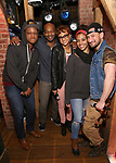"""J. Quinton Johnson, Brandon Victor Dixon, Syndee Winters, Sasha Hollinger and Roddy Kennedy attends The Rockefeller Foundation and The Gilder Lehrman Institute of American History sponsored High School student #EduHam matinee performance of """"Hamilton"""" at the Richard Rodgers Theatre on 3/15/2017 in New York City."""