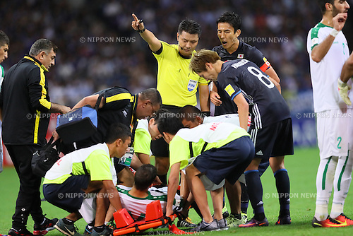 Japan team group (JPN), <br /> OCTOBER 6, 2016 - Football / Soccer : <br /> FIFA World Cup Russia 2018 Asian Qualifier <br /> Final Round Group B <br /> between Japan 2-1 Iraq <br /> at Saitama Stadium 2002, Saitama, Japan. <br /> (Photo by Yohei Osada/AFLO SPORT)