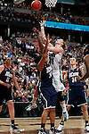 01 APRIL 2012:  Natalie Novosel (21) of the University of Notre Dame drives to the hoop against the University of Connecticut during the Division I Women's Final Four Semifinals at the Pepsi Center in Denver, CO.  Notre Dame defeated UCONN 83-75 to advance to the national championship game.  Jamie Schwaberow/NCAA Photos