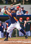 12 March 2014: Houston Astros infielder Jose Altuve at bat during a Spring Training game against the Washington Nationals at Osceola County Stadium in Kissimmee, Florida. The Astros rallied in the bottom of the 9th to edge out the Nationals 10-9 in Grapefruit League play. Mandatory Credit: Ed Wolfstein Photo *** RAW (NEF) Image File Available ***