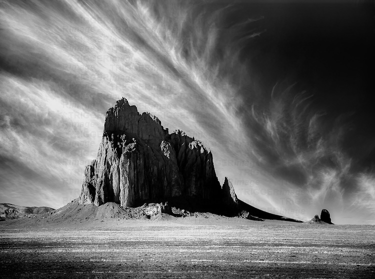Country scene in USA at Monument Valley with dramatic rock formation