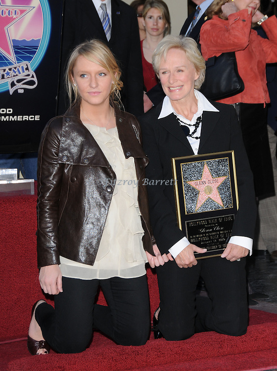 Glenn Close with her daughter Anne Starke as she is Honored with the 2,378th Star on the Hollywood Walk of Fame Hollywood, Ca. January 12, 2009. Fitzroy Barrett