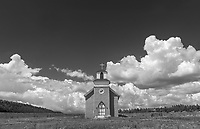 A Gothic church in La Cueva, New Mexico