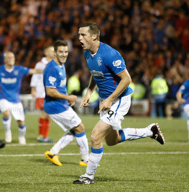 Jon Daly celebrates his second goal of the night