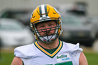 Green Bay Packers tackle Bryan Bulaga (75) during an Organized Team Activity on May 23, 2017 at Clarke Hinkle Field in Green Bay, Wisconsin.  (Brad Krause/Krause Sports Photography)