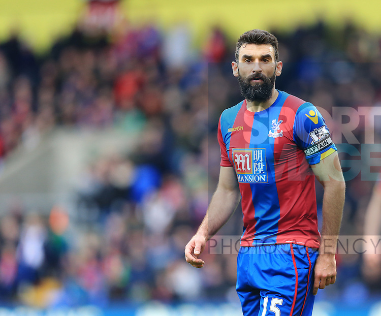 Crystal Palace's Mile Jedinak in action <br /> <br /> - English Premier League - Crystal Palace vs Liverpool  - Selhurst Park - London - England - 6th March 2016 - Pic David Klein/Sportimage