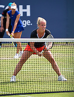 Den Bosch, Netherlands, 08 June, 2016, Tennis, Ricoh Open, Womans doubles: Indy de Vroome (NED) and her partner Richel Hogenkamp (NED)<br /> Photo: Henk Koster/tennisimages.com
