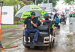 CROMWELL, CT. 21 June 2019-062119 - PGA Tour player Phil Mickelson sits on the back of a cart heading back to the clubhouse after completing the second round of the Travelers Championship at the TPC River Highlands in Cromwell on Thursday. Phil won't be playing this weekend since he failed to make the cut, shooting 3 over for the tournament. Bill Shettle Republican-American