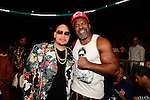 MIAMI, FL - JULY 10: Fat Joe and Shannon Briggs during Iron Mike Judgement Day boxing match at AmericanAirlines Arena on July 10, 2014 in Miami, Florida.  (Photo by Johnny Louis/jlnphotography.com)
