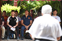 Captains look on as they are welcomed onto the marae.<br /> 2019 Hamilton Sevens captains' photo at Turangawaewae Marae in Ngaruawahia, New Zealand on Wednesday, 23 January 2019. Photo: Jeremy Ward / lintottphoto.co.nz
