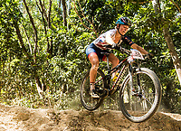 Picture by Alex Broadway/SWpix.com - 07/09/17 - Cycling - UCI 2017 Mountain Bike World Championships - XCO - Cairns, Australia - Emily Wadsworth of Great Britain competes in the Women's Junior World Championship Race.